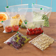 12X Large Food Bag Clear Transparent Zipped Sealing Storage Freezer & Fridge Bag