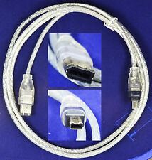1.5M(5FT) IEEE 1394 firewire 6-pin to 4-pin male-to-male cable Cord iLink DV
