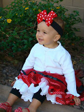 Baby Bow Headband Red Polka Dot Black Knit Minnie Mickey Mouse Disney Dress Up