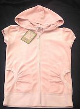NWT Juicy Couture New Genuine Ladies Small UK 8/10  Pale Pink Velour Hoodie