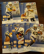 2007 DAV SAN DIEGO CHARGERS TEAM ISSUE PHOTO CARD SET OF 9 PHILIP RIVERS JAMMER
