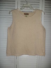 CARIBEAN JOE beige print sleeveless top sz M