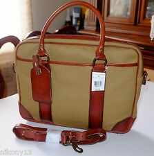 $298 NWT Authentic Polo Ralph Lauren Khaki Soft Briefcase