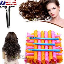 18Pcs 65CM Hair Rollers DIY Curlers Large Magic Circle Spiral Styling Tools New