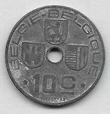 10 Centimes zinc Léopold III 1944 FL-FR