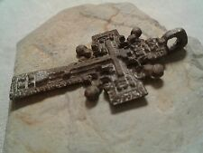 "Antique Byzantine Catholic Russian Orthodox ""Golgotha"" ""Solar"" Sun Cross pendant"