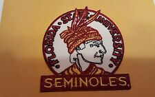 """FSU Florida State Seminoles CLASSIC  vintage iron on embroidered patch 3.5x1.5"""""""