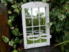 Shabby Garden Wall Mirror Window 2 Pots French country planter BOXES Vintage