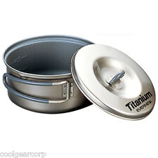 NEW Evernew Titanium Non Stick 0.6L 600ml Pot w/Lid ECA421 Cookset Backpacking