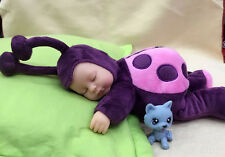 Sleeping Reborn Doll Ladybird Full Soft Silicone Lifelike Full Baby Purple 12""