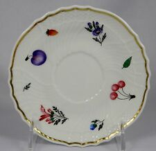 GINORI PERUGIA Saucer for Coffee Cup  (Gold band inside edge)