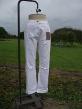 Flattering FABRIC White Stretch Cotton Mix Slim Leg Jeans Plus Size 24 BNWT