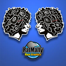 MARCO SIMONCELLI RACE YOUR LIFE STICKERS - 2x 200mm - MONO MOTOGP *RATMALLY