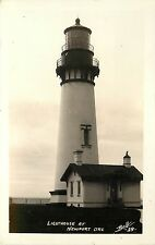 1929 Real Photo PC; Light House Newport Oregon OR, Ball, Lincoln Co. Unposted