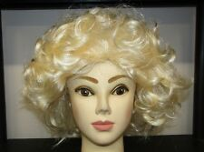 Fancy dress Marilyn Monroe/Sandy Wig 50s blonde curly wig .