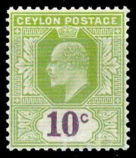 CEYLON 1903-King Edward 10 Cent-MNH-Cat £ 2-50-1 Value-MNH