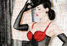 DITA VON TEESE photo mosaic cm. 30x41 poster with a lot of hot sexy pics B
