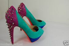 SUPER GORGEOUS!!! GREYMER  HIGH HEEL PLATFORM CRYSTAL PUMPS EU 40 US 10