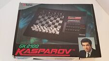 RARE Kasparov GK2100 Electronic Computer Chess Game by Saitek COMPLETE