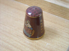 CORFU / CLASSICAL FIGURES RED GLAZE CHINA THIMBLE