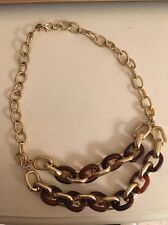 Banana Republic Gold and Tortoise Statement Necklace