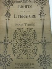 Vintage 1898 Lights to Literature Book Three hardcover by Rand, McNally & Co