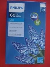 PHILIPS CHRISTMAS FACETED LED STRING LIGHTS BLUE 60 LIGHTS NEW