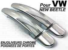 VW NEW BEETLE 2012-ON CHROME SIDE DOOR HANDLE COVERS CAPS TRIM
