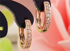 Gemma Fashion Rose Gold Plated Classic Earrings Women CZ Zircon Beautiful Hoop