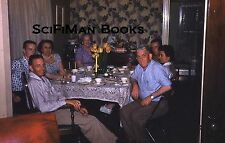 KODACHROME 35mm Slide Handsome Men Pretty Sexy Women Smoking Table Tulips 1960!