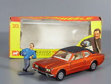Original Corgi 313 Ford Cortina GXL MK3, Bronze, Graham Hill Figure, Boxed