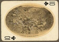 Original 1911 Playing Card Photo PETRIFIED FOREST Arizona Indians Fred Harvey