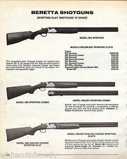 1992 BERETTA Model 682, 686/687 Sporting Combo, English Course SHOTGUN AD