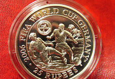2006 Seychelles Large Proof Silver 25 rupees World Cup Soccer(Football)