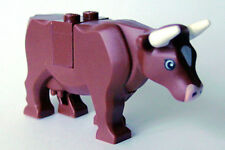 LEGO - Brown Cow with Pink Muzzle and White Spot on Head Pattern - Brown