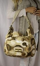 COACH LEATHERWORKS Kristin Large Signature Op Art Sequin Hobo Shoulder Handbag