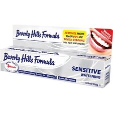 6x 125ml 170g BEVERLY HILLS Sbiancante Dentifricio sensibile Extra Large 170g