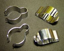 BSA, Norton, Triumph, OIF, (4) FOUR, CHROME, OEM, Handlebar Wiring  Cable Clips