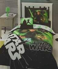 STAR WARS RETURN OF THE JEDI REVERSIBLE QUEEN bed QUILT DOONA COVER SET NEW