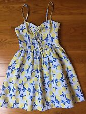NWOT$218 JUICY COUTURE Jacguard fit and flare floral summer dress size 2 XS