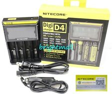 NEW 2016 NITECORE D4 Digi charger Charger For AA 18650 18350 w/car charger