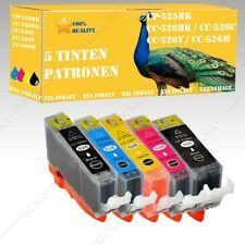 5x Ink cartridges suitable for Canon Pixma 525-526 MG6150 / MG6250