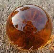 Amber Clolors Glass Magic Crystal Healing Ball Sphere 40mm+Stand QA 07
