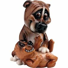 Arora Pets with Personality Staffy & Puppy Large Dog Lovers Figurine Gift Boxed