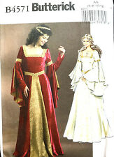 4571 BUTTERICK Misses Arwen Lord Of The Rings Dress Gown Costume Pattern UC 6-12