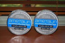 Ametalin Silver Foil Aluminium Insulation Duct Tape 50mm x 50m X 2 rolls