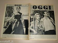 OGGI=1954/30=MODA LINEA ITALIANA=CHRISTIAN JAQUE=GLORIA MARLOWE=FEDERICO FELLINI
