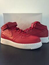 NIKE NIKELAB AIR FORCE 1 MID 819677 600 SIZE: 10.5 Red Luxury