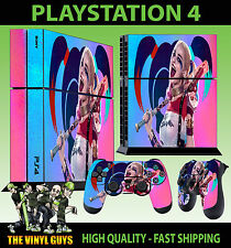 PS4 Skin Suicide Squad Happy Harley Quinn PINK 2 Sticker + Pad decal Vinyl STOOD