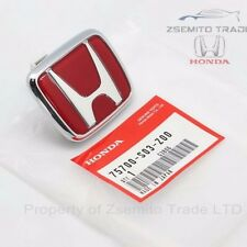 Honda Civic EK9 Type R FRONT EMBLEM JDM Red Genuine OEM 75700-S03-Z00 Badge MK6